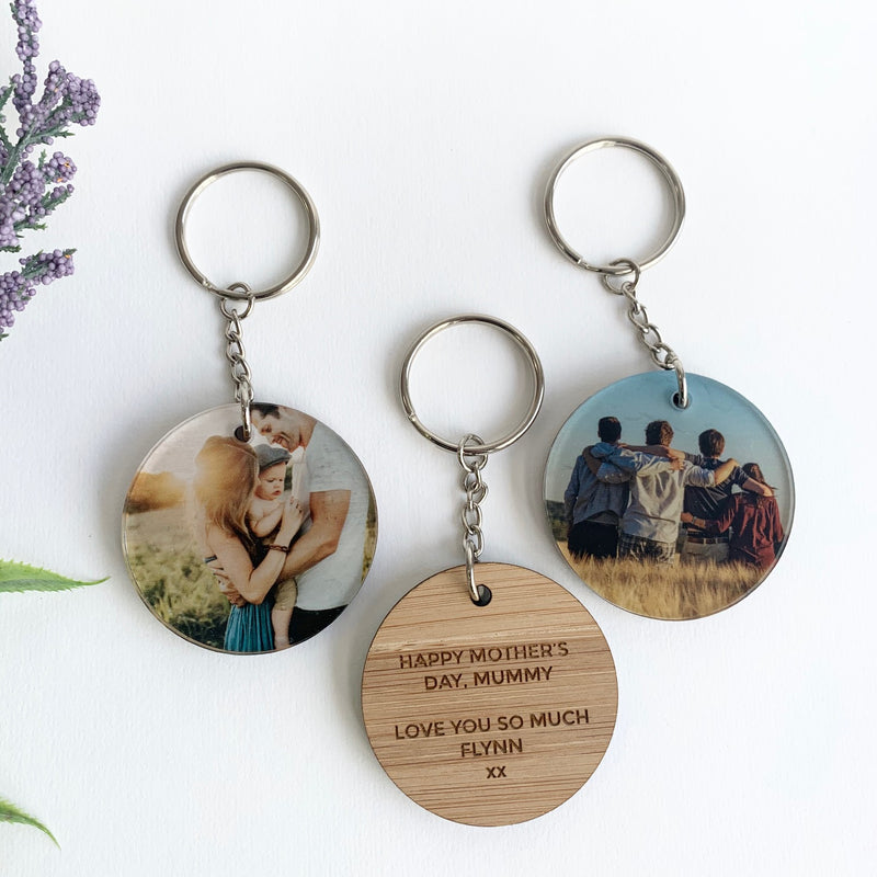 Photo Round Keyring