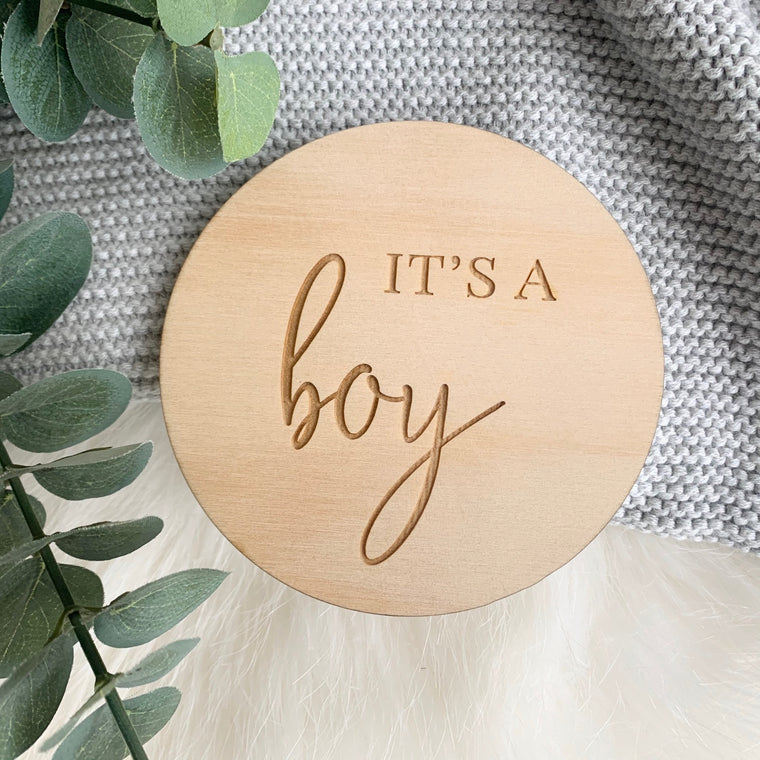 It's a BOY Plaque