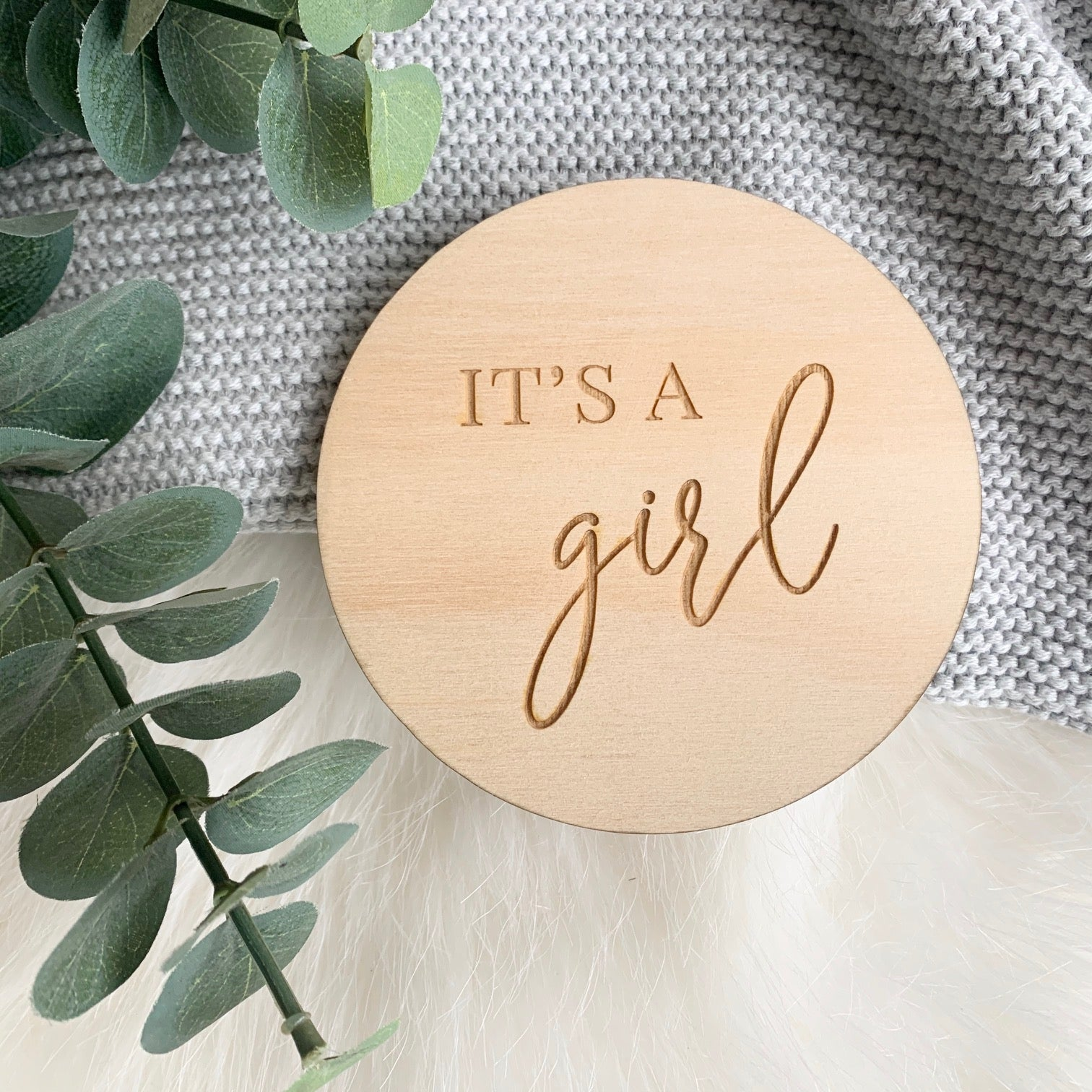 It's a GIRL Plaque