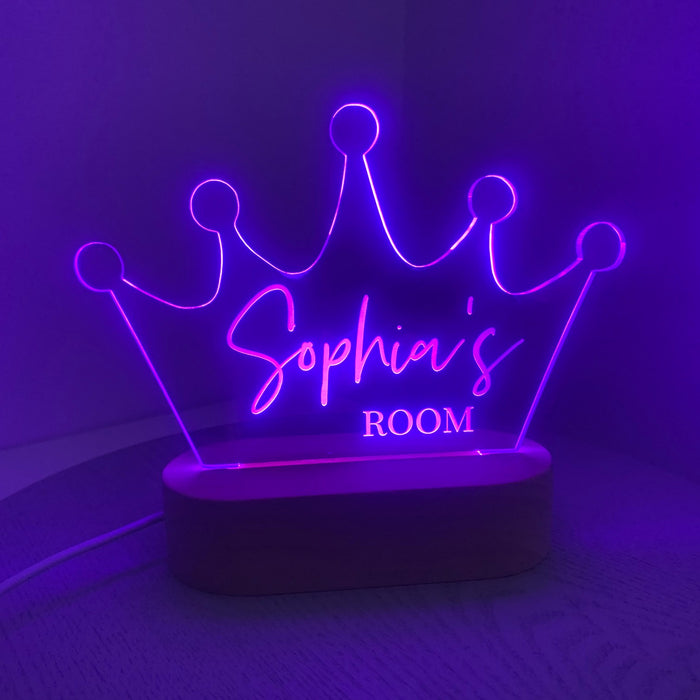 Crown Personalised Night Light