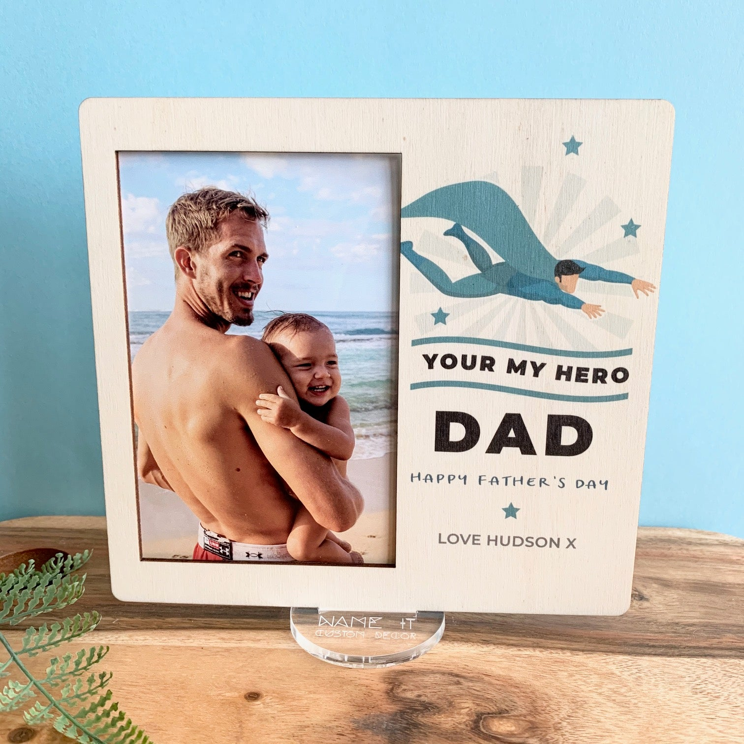 Super Hero - Printed Father's Day Frame