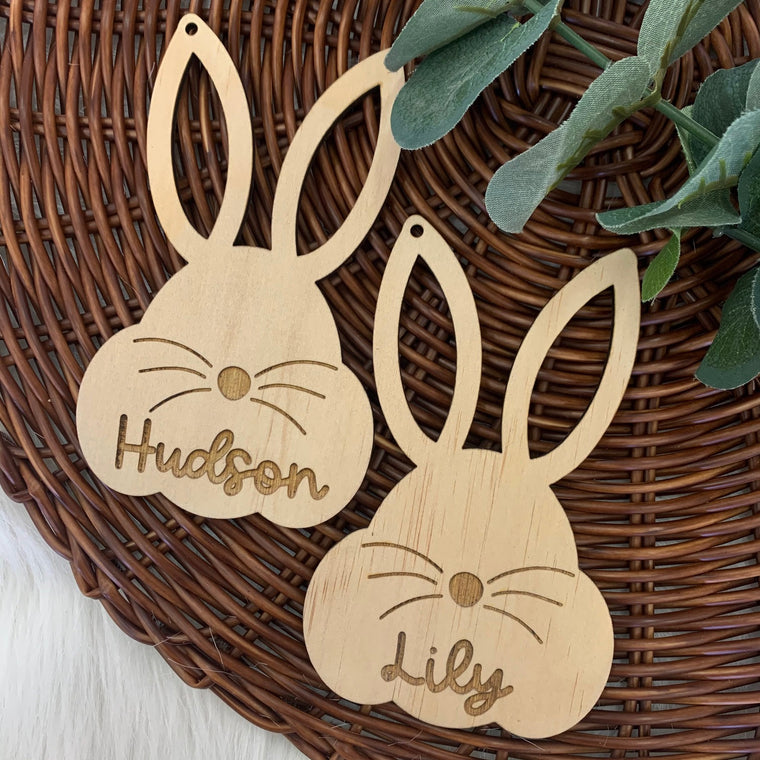Easter Bunny Wooden Gift Tag