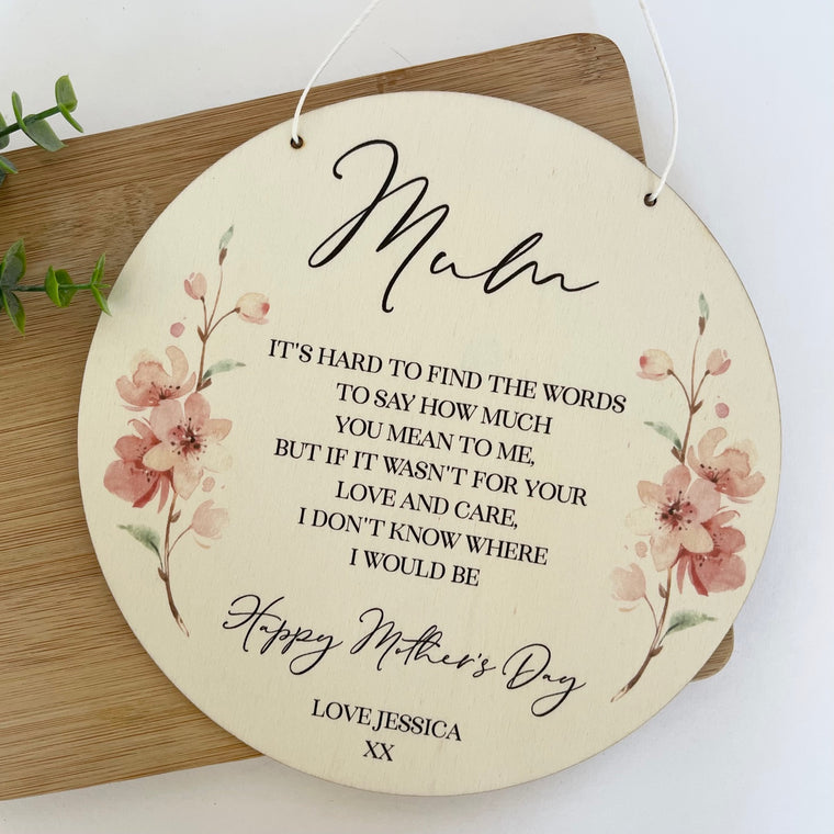 Custom Mother's Day Plaque