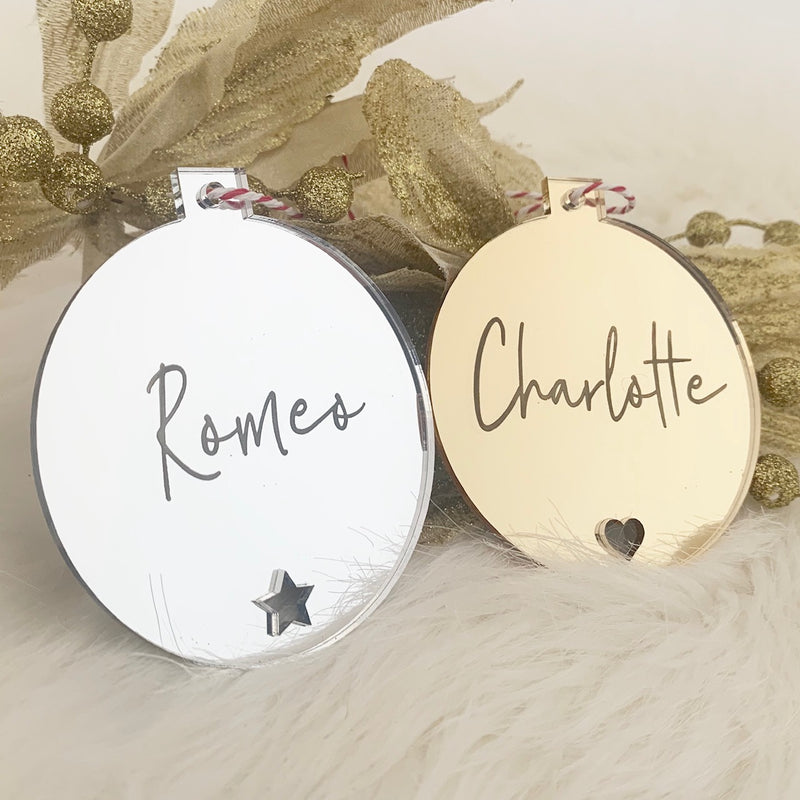 Mirror Christmas Ornaments