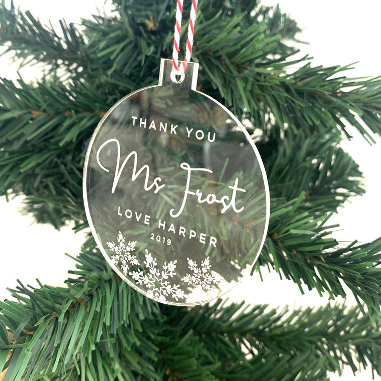 Thank You - Christmas Ornament
