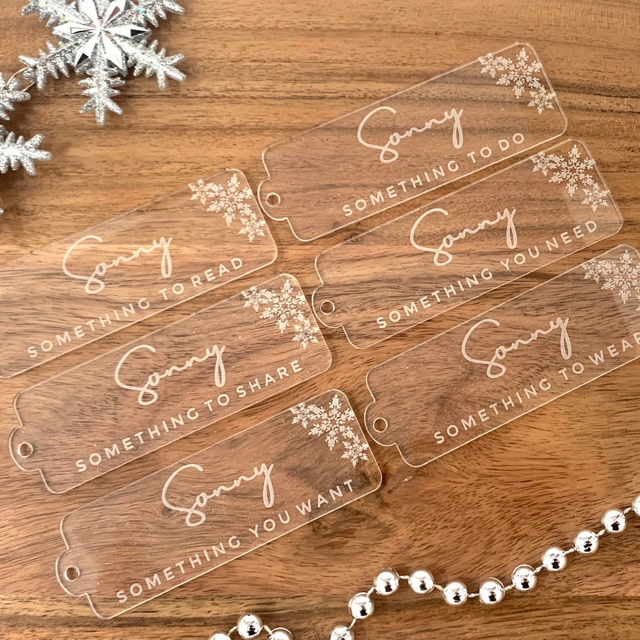 Personlaised Simplicity Gift Tags - Rectangle