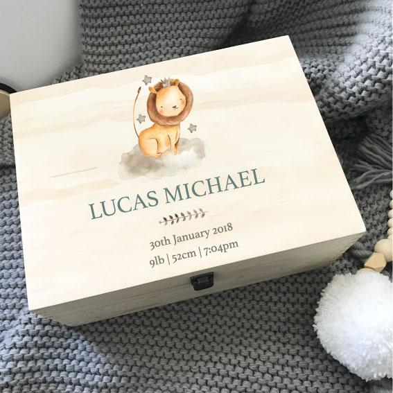 Lion - Printed Memory Box