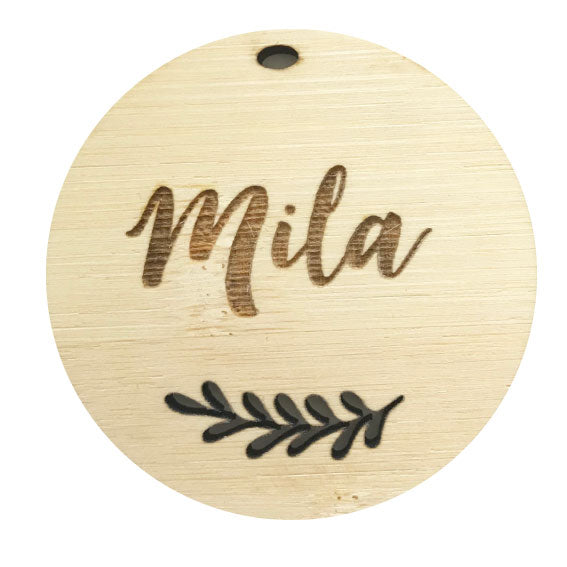 Engraved Round Bag Tag