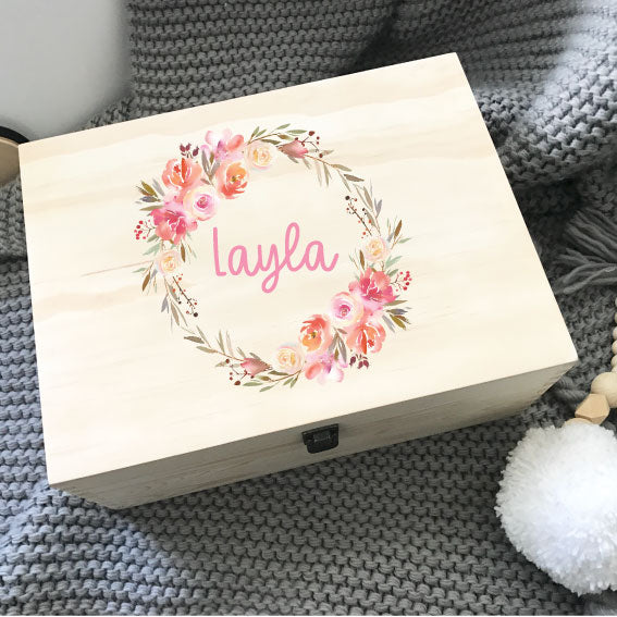 Wreath - Printed Memory Box