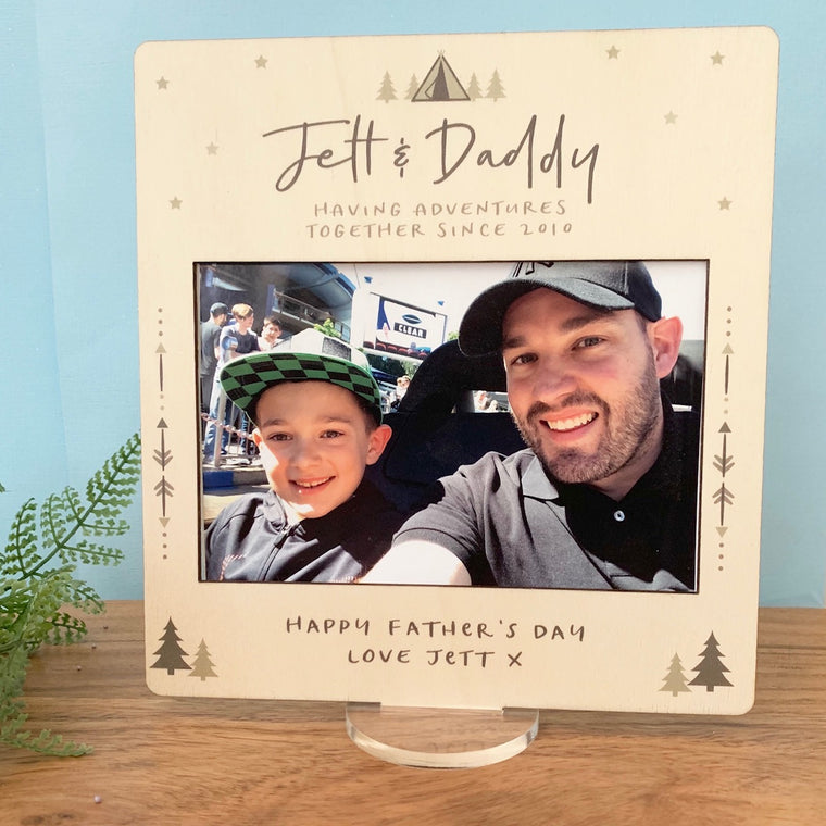 Adventure Dad - Printed Father's Day Frame