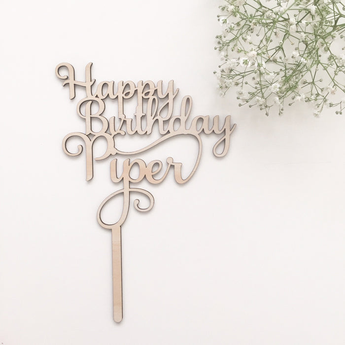 Happy Birthday - Cake Topper