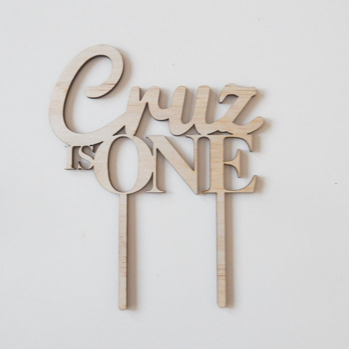Wooden Name Cake Topper