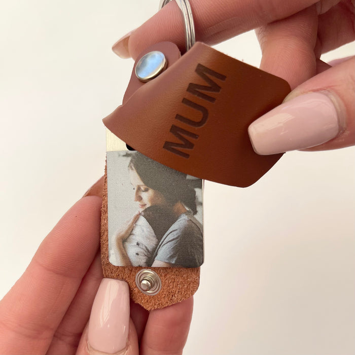 Custom Photo Leather Keyrings