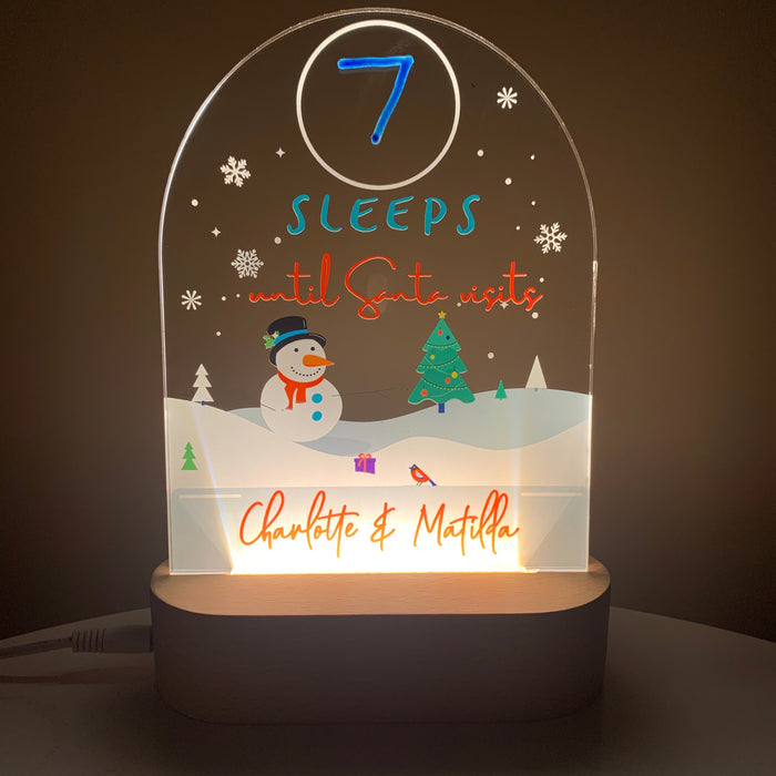 Christmas Countdown Night Light