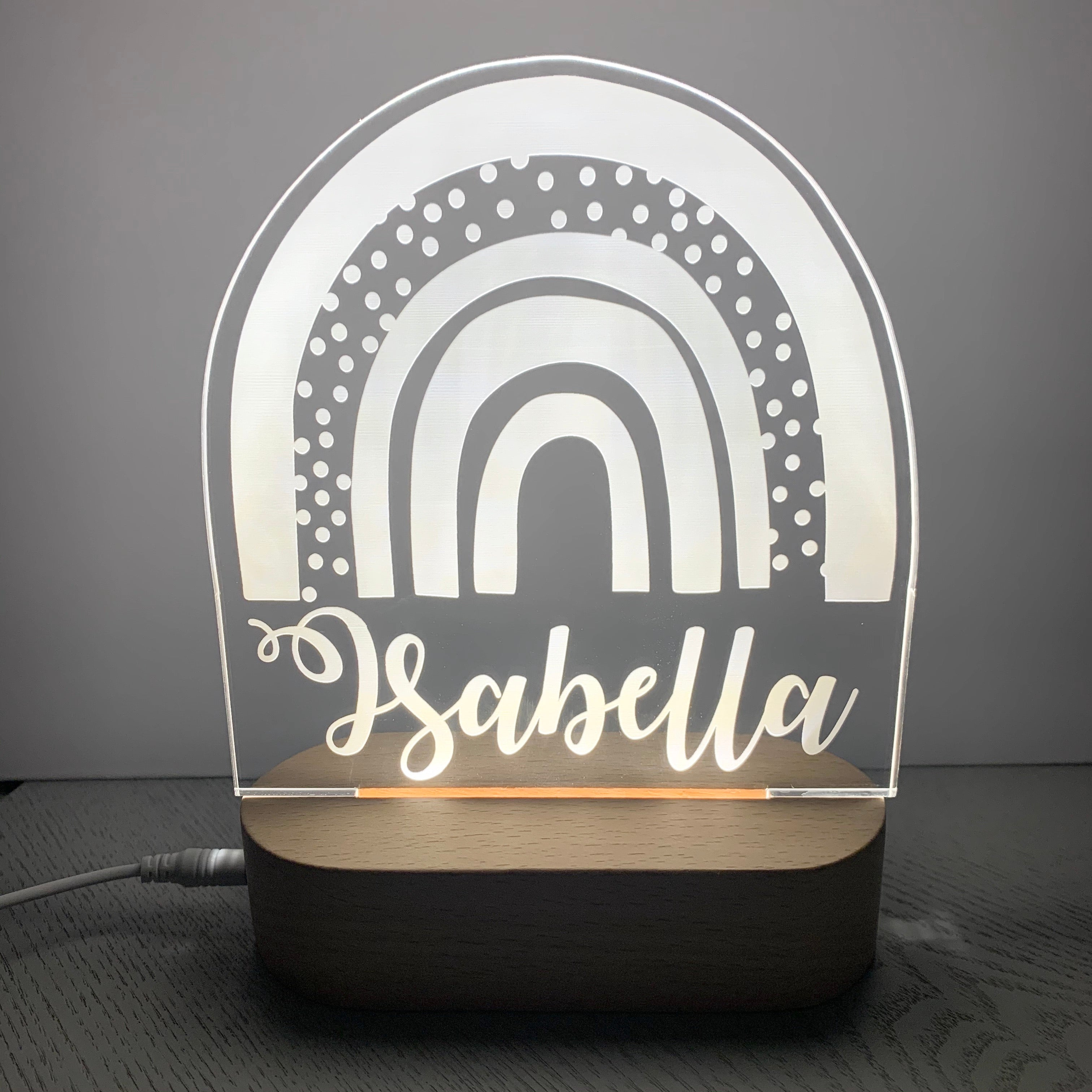 Rainbow Personalised Night Light