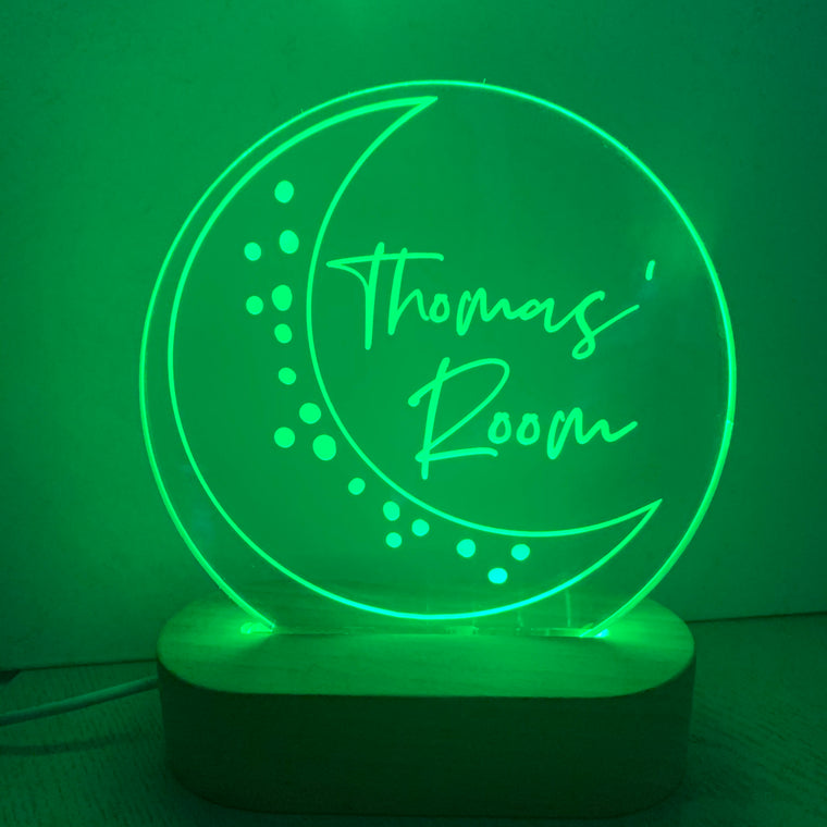 Moon Personalised Night Light