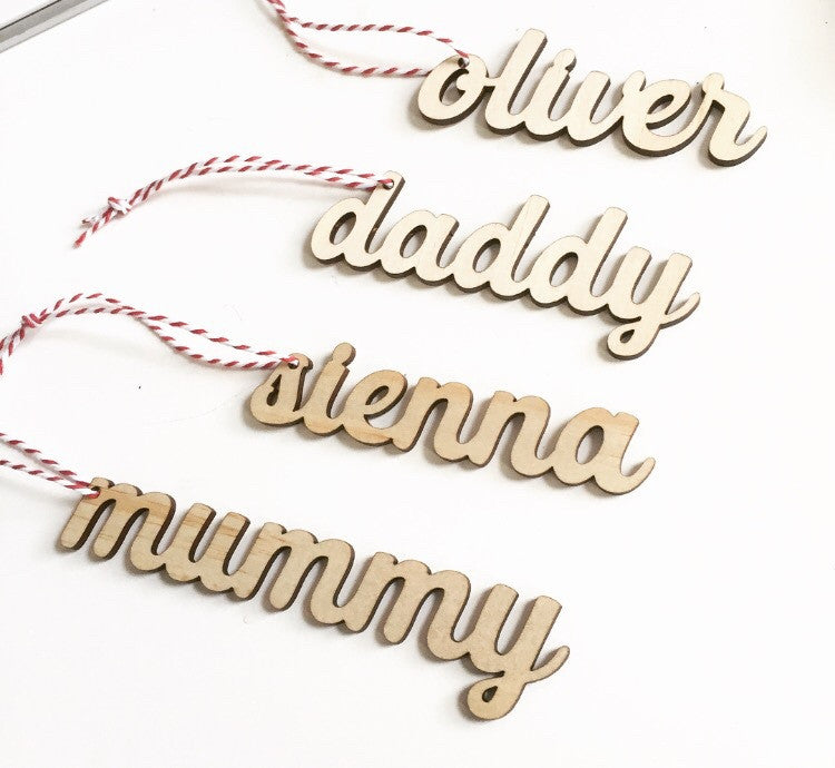 Mini Name Ornaments