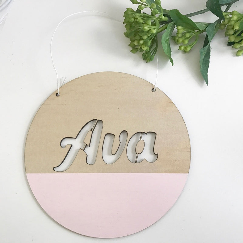 Round Customised Name Plaques