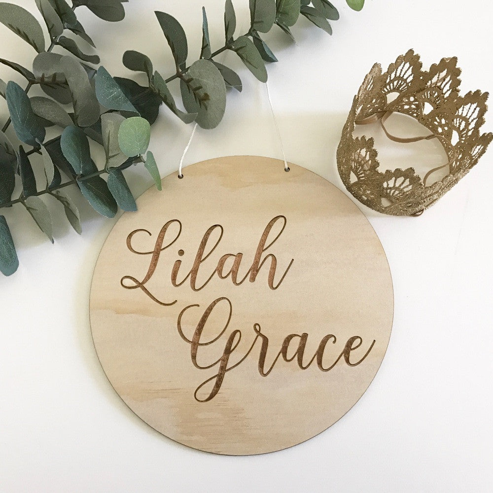 Etched Round Name Plaque