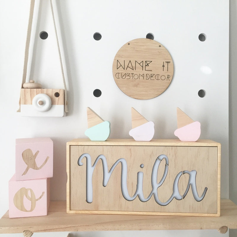 Kmart Light Box - Name Plate