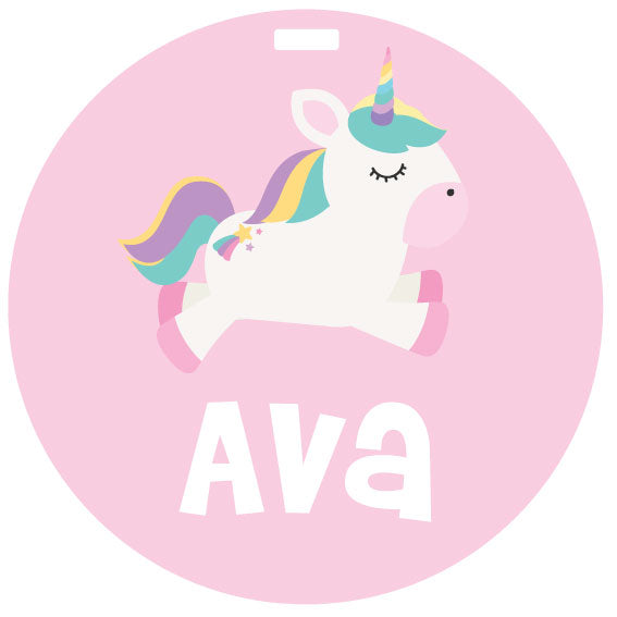 Pink Unicorn Bag Tag