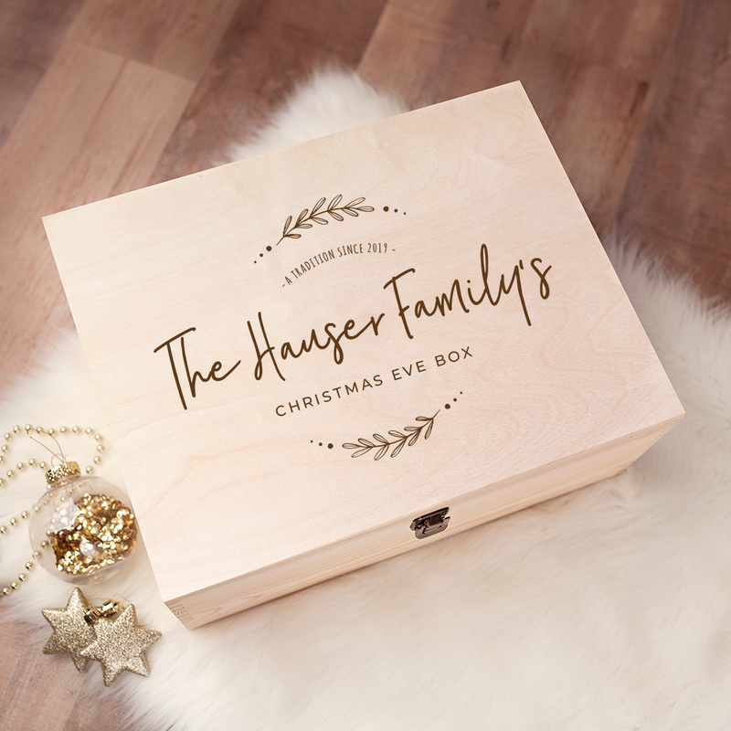 Engraved Christmas Eve Box - Design 18