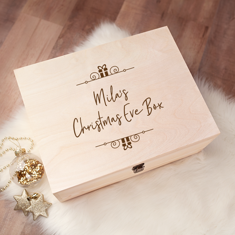 Engraved Christmas Eve Box - Design 19