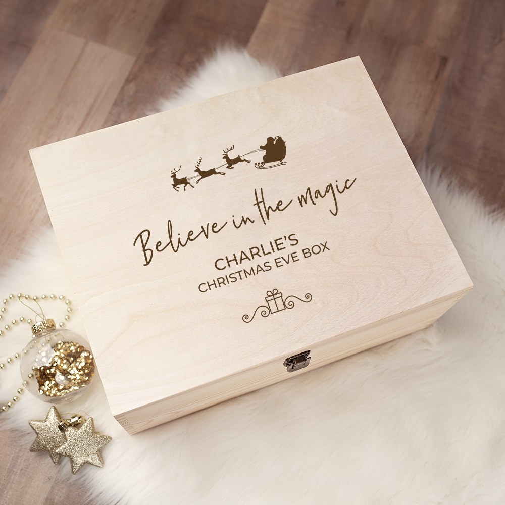 Engraved Christmas Eve Box - Design 20