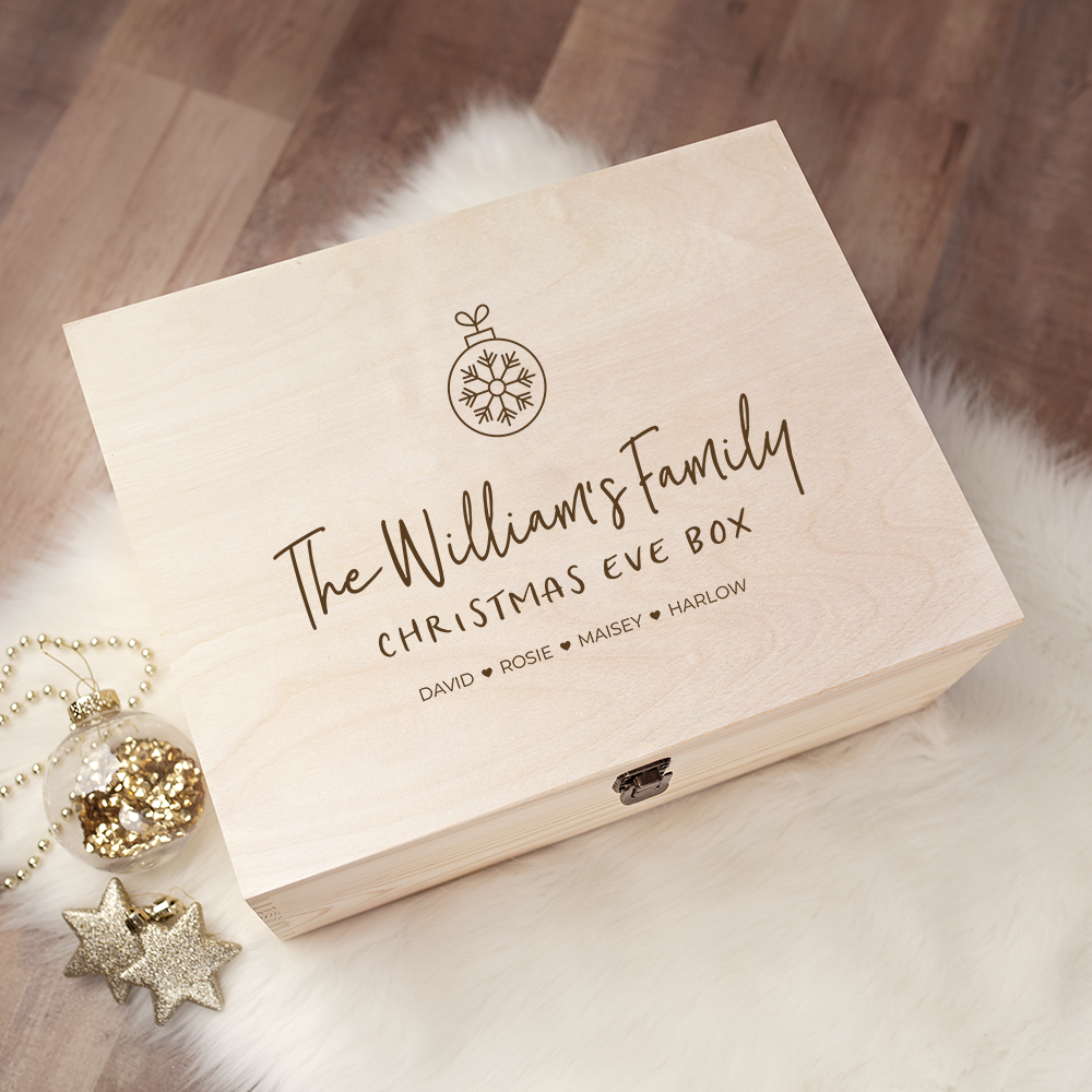 Engraved Christmas Eve Box - Design 22