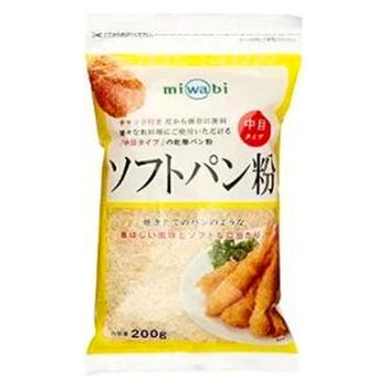 </font><br>Miwabi<br>ソフトパン粉(チャック付)<br>200g<br><br><small>「焙焼式」パン粉。</small>