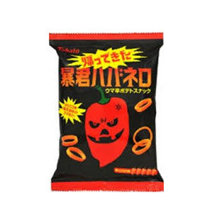 Tohato<br>Habanero east pigeon<br>56g|東鳩<br>暴君ハバネロ<br>56g<br><br><small>ウマ辛伝説。</small>