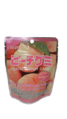 Kasugai<br>Peach Gummy Candy<br>50g |春日井<br>ピーチ グミ<br>50g<br><br><small>柔らかめ食感グミです。</small>
