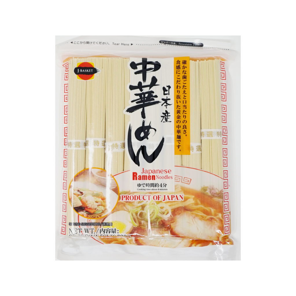 J-BASKET<br>日本産 中華めん<br>720g<br><br><small>確かな歯ごたえと口当たりの良さ</small>