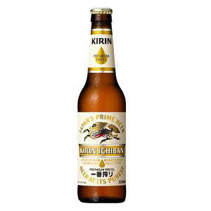 <!--004-->kirin<br>beer<br>330ml|キリン<br>一番搾り 瓶<br>330ml<br><br><small>やっぱりビールはおいしい、うれしい。</small>