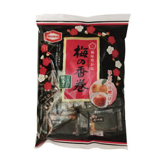 Kameda<br>Rice Crachers Plum<br>16Pieces|亀田製菓<br>梅の香巻<br>16枚<br><br><small>ほんのり甘酸っぱい。</small>