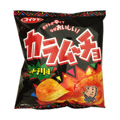 Koikeya<br>Karamucho Hot chilly<br>60g|コイケヤ<br>カラムーチョ ホットチリ味<br>60g<br><br><small>ヒー。</small>