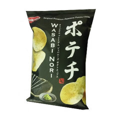 Koikeya<br>Wasabi Nori crips<br>100g|コイケヤ<br>わさびのりポテチ<br>100g<br><br><small>日本の本格味。</small>