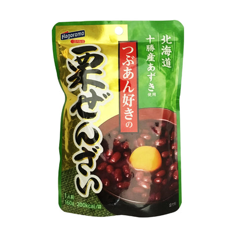 HAGOROMO<br>SWEET CHESTNUT AND RED BEANS<br>160g|はごろも<br>栗ぜんざい<br>160g<br><br><small>たまに食べたくなりますよね。</small>