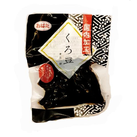 Obata<br>Black Beans<br>110g|おばた<br>くろ豆<br>110g<br><br><small>高級感がありますね。</small>
