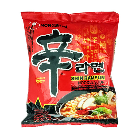 Spicy noodles<br>120g|辛ラーメン<br>120g<br><br><small>韓国独特の家庭の味。</small>