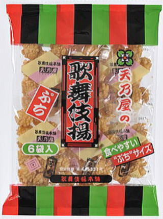 Amanoya Fried Rice Crackers Puchi Kabukiage 120g|天乃屋<br>ぷち 歌舞伎揚<br>6袋入