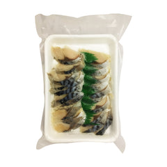 *Vinegared mackerel for sushi 20pcs|寿司トッピング<br>しめさば<br>20pcs<br><br><small>寿司用。</small>