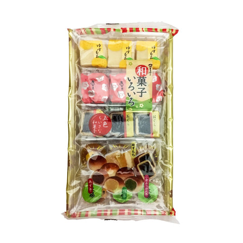 Tsuyamaya Seika<br>Japanese tradional sweets Assorted<br>15P|津山屋製菓<br>和菓子いろいろ<br>15個入<br><br><small>5種類入。</small>