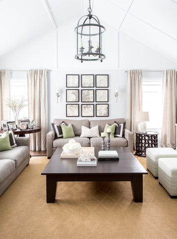 Love the high ceilings in this spacious family room!