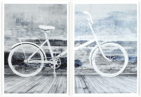 White Bicycle - Diptych