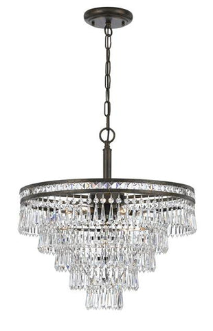 Meriwether 6 Light Hand Cut Crystal Chandelier