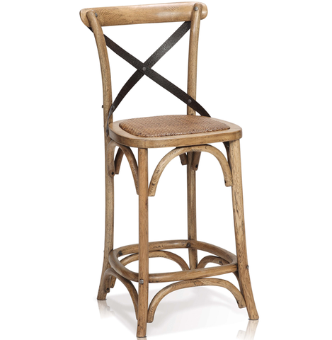 Reva Cross Back Counter Stool
