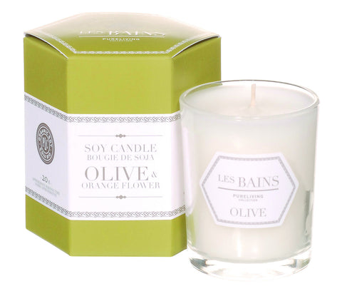 Olive and Orange Flower Soy Candle