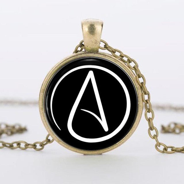Atheist crystal pendant necklace lucky moon store atheist crystal pendant necklace aloadofball Choice Image