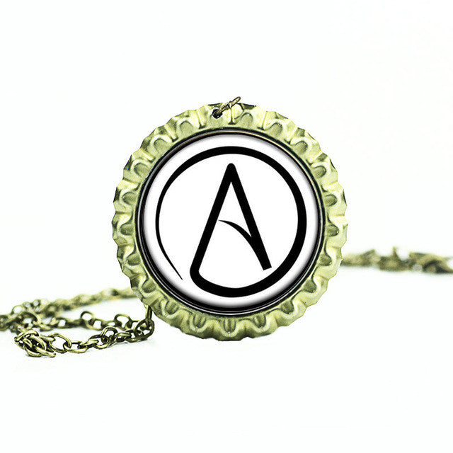 Atheist crystal pendant necklace lucky moon store atheist crystal pendant necklace aloadofball Gallery